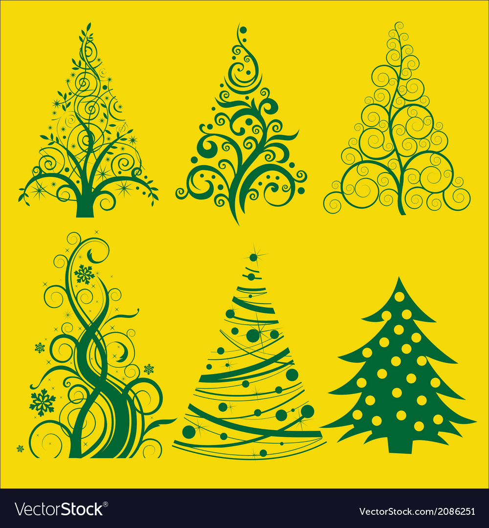 Christmas tree 2 vector | Price: 1 Credit (USD $1)