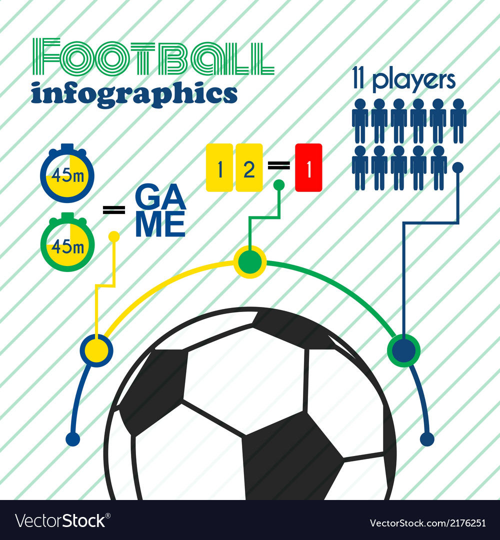 Football infographics elements set vector | Price: 1 Credit (USD $1)