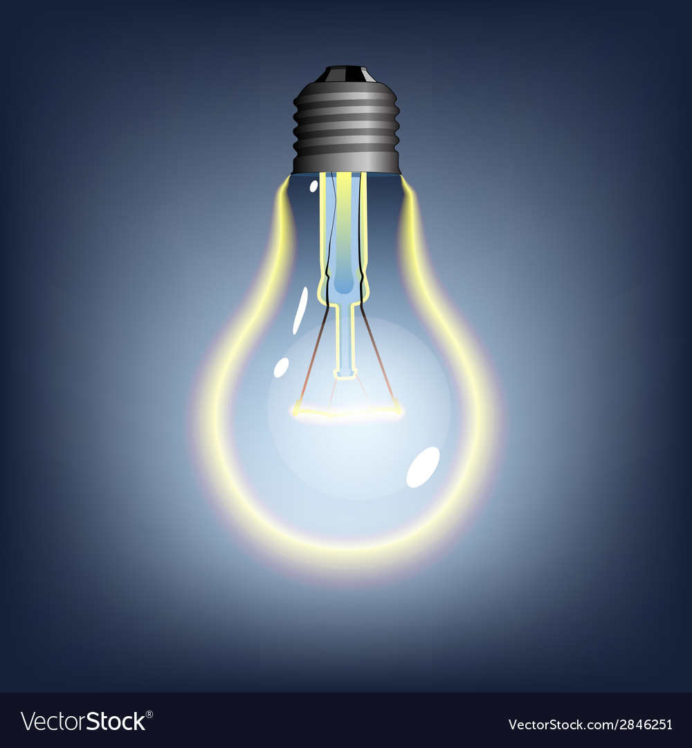 Glowing lightbulb vector | Price: 1 Credit (USD $1)