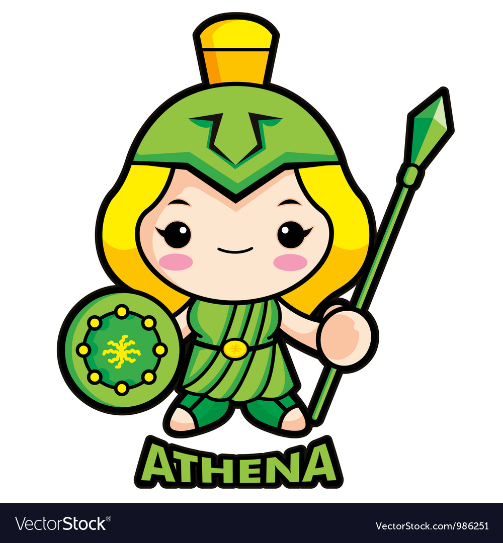 Goddess of war athena vector | Price: 1 Credit (USD $1)