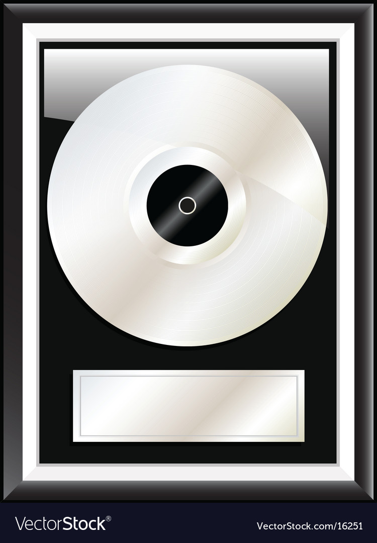 Platinum disc vector | Price: 1 Credit (USD $1)