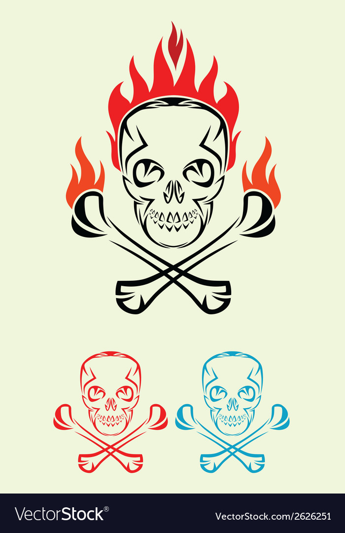 Skull fire tribal vector | Price: 1 Credit (USD $1)