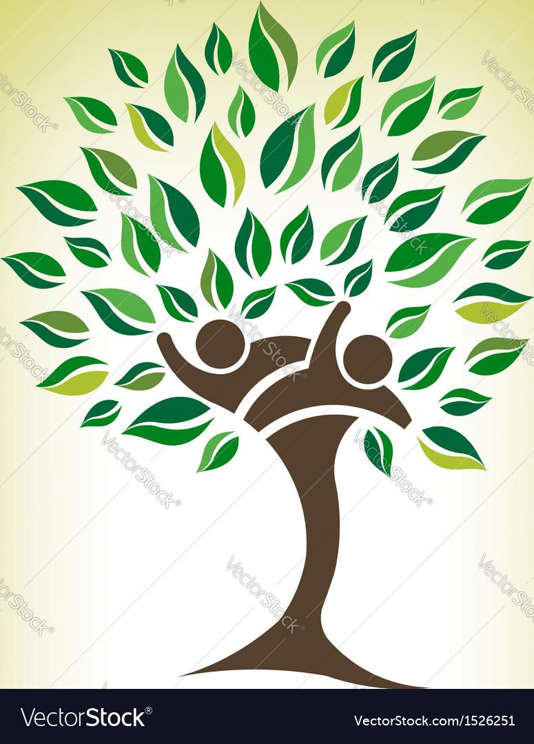Team tree logo vector | Price: 1 Credit (USD $1)