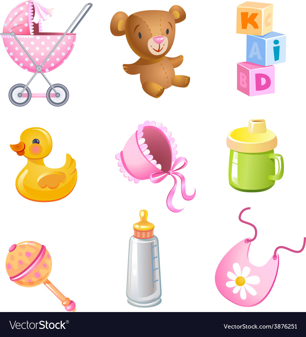 Toys and accessories vector | Price: 1 Credit (USD $1)