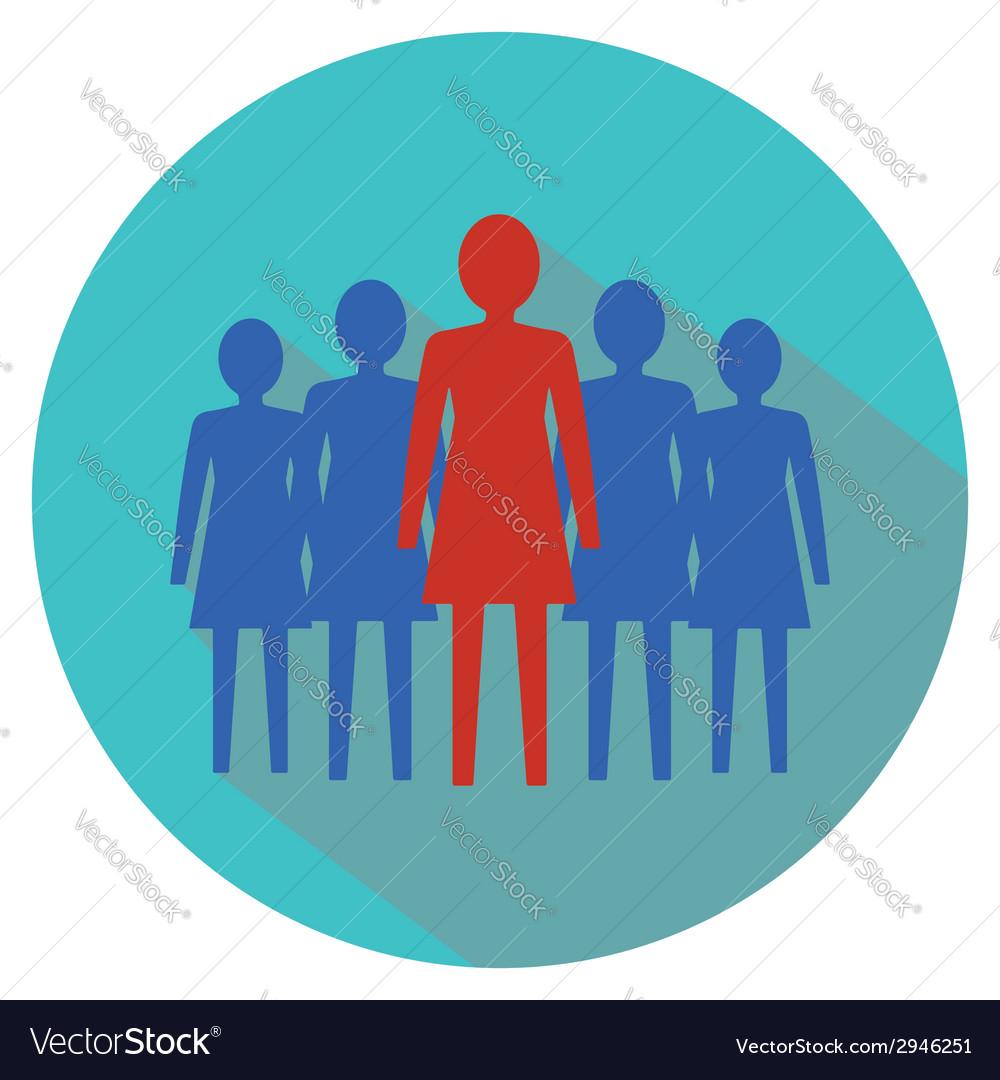 Women leadership concept women team vector | Price: 1 Credit (USD $1)