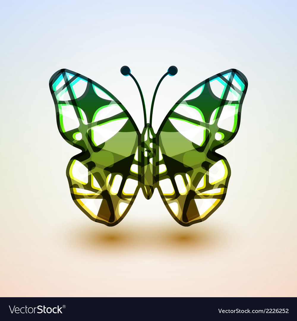 Abstract butterfly vector | Price: 1 Credit (USD $1)