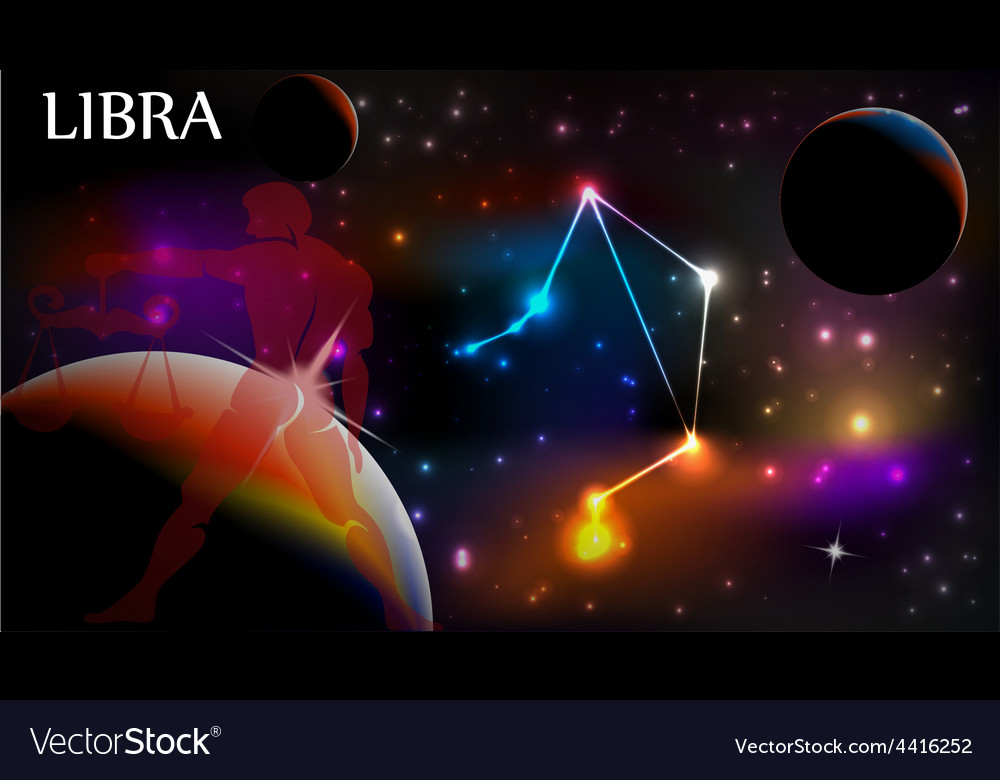 Astrology sign libra vector | Price: 1 Credit (USD $1)