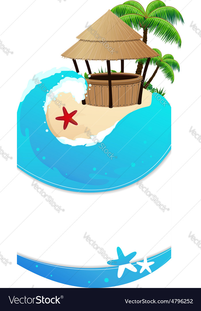 Beach with cocktail bar vector | Price: 3 Credit (USD $3)