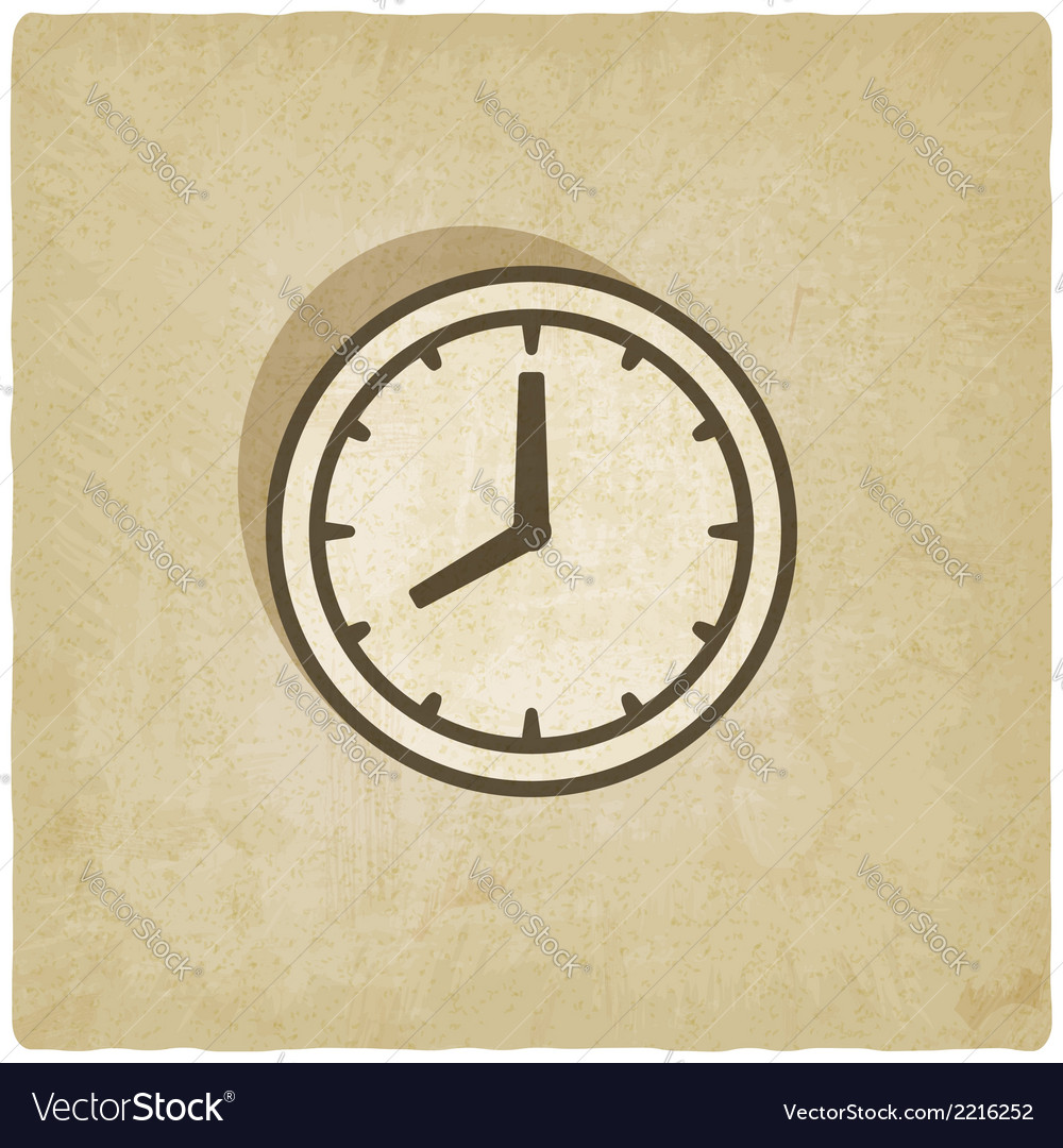 Clock face old background vector | Price: 1 Credit (USD $1)