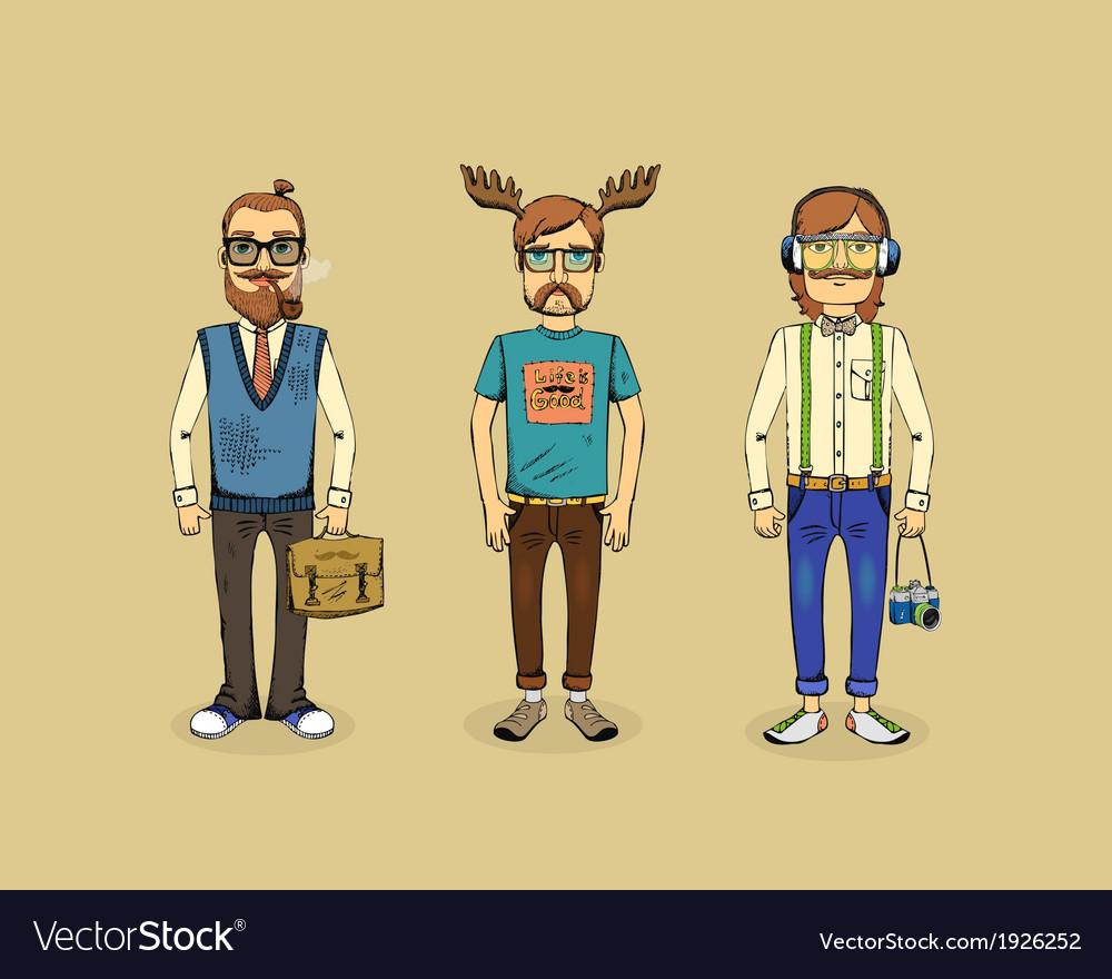 Hipster men vector | Price: 1 Credit (USD $1)