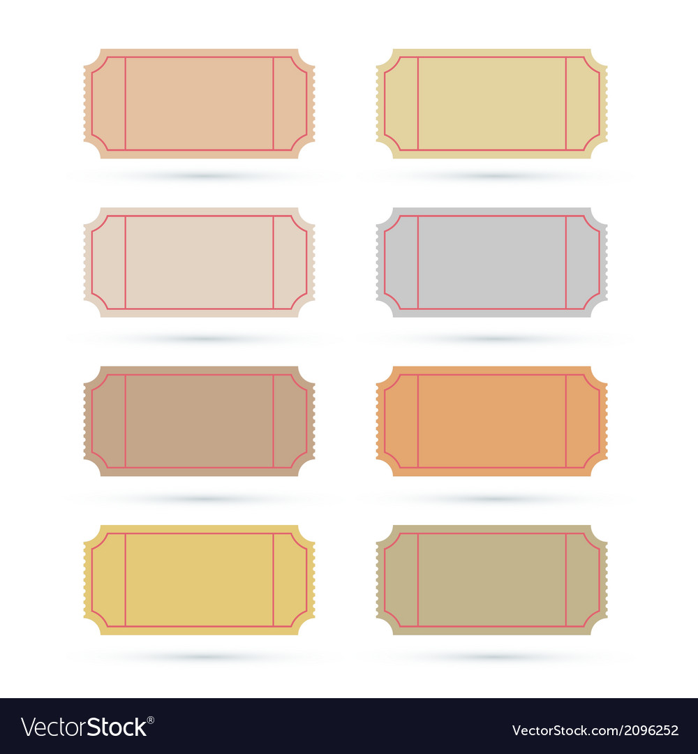Ticket set isolated on white background vector | Price: 1 Credit (USD $1)
