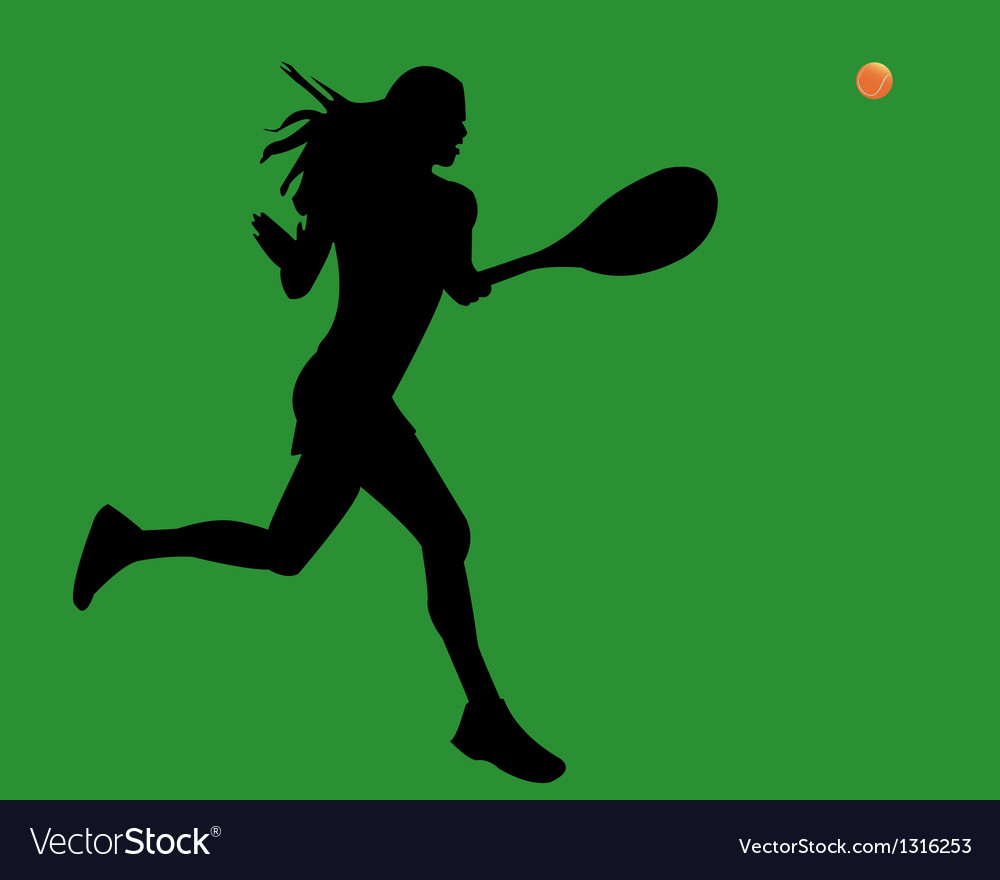 A woman is a tennis player vector | Price: 1 Credit (USD $1)