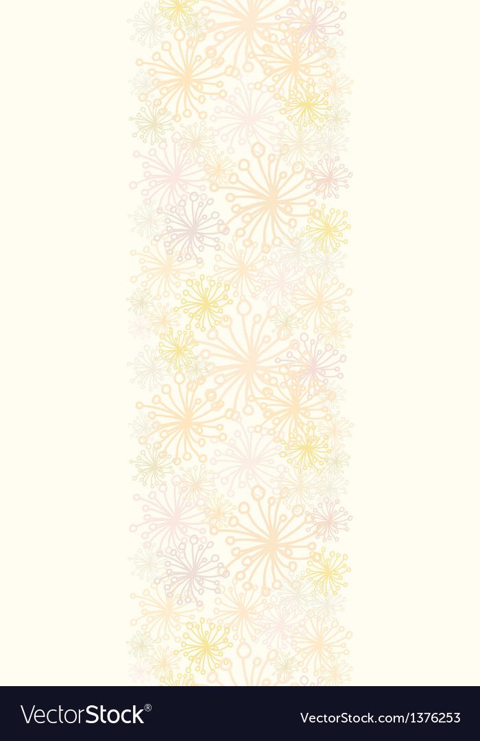 Abstract fluffy plants vertical seamless pattern vector | Price: 1 Credit (USD $1)