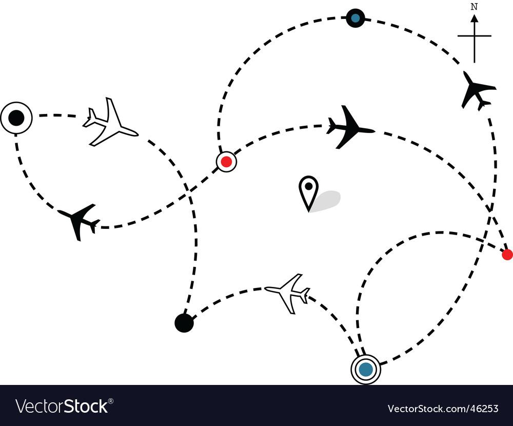Airline plane flight path vector | Price: 1 Credit (USD $1)