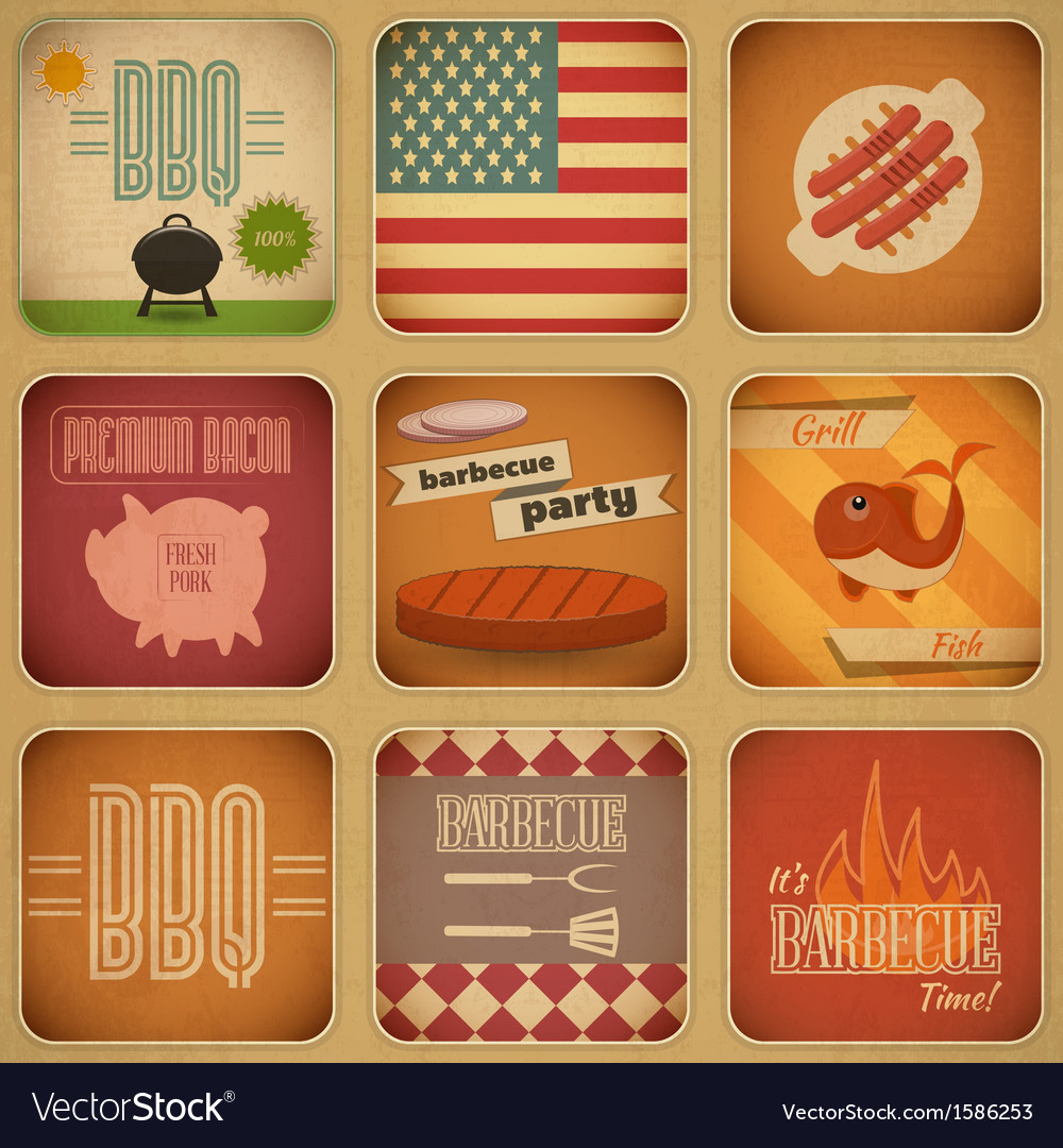 Barbecue menu vector | Price: 1 Credit (USD $1)