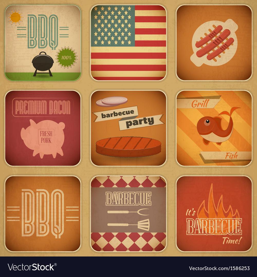 Barbecue menu vector | Price: 1 Credit (USD $1)