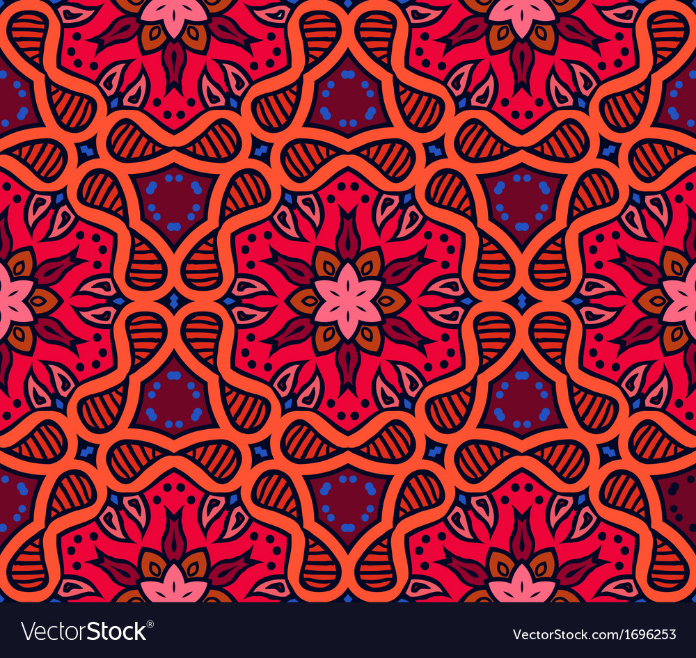 Bold pattern with indian motifs vector | Price: 1 Credit (USD $1)