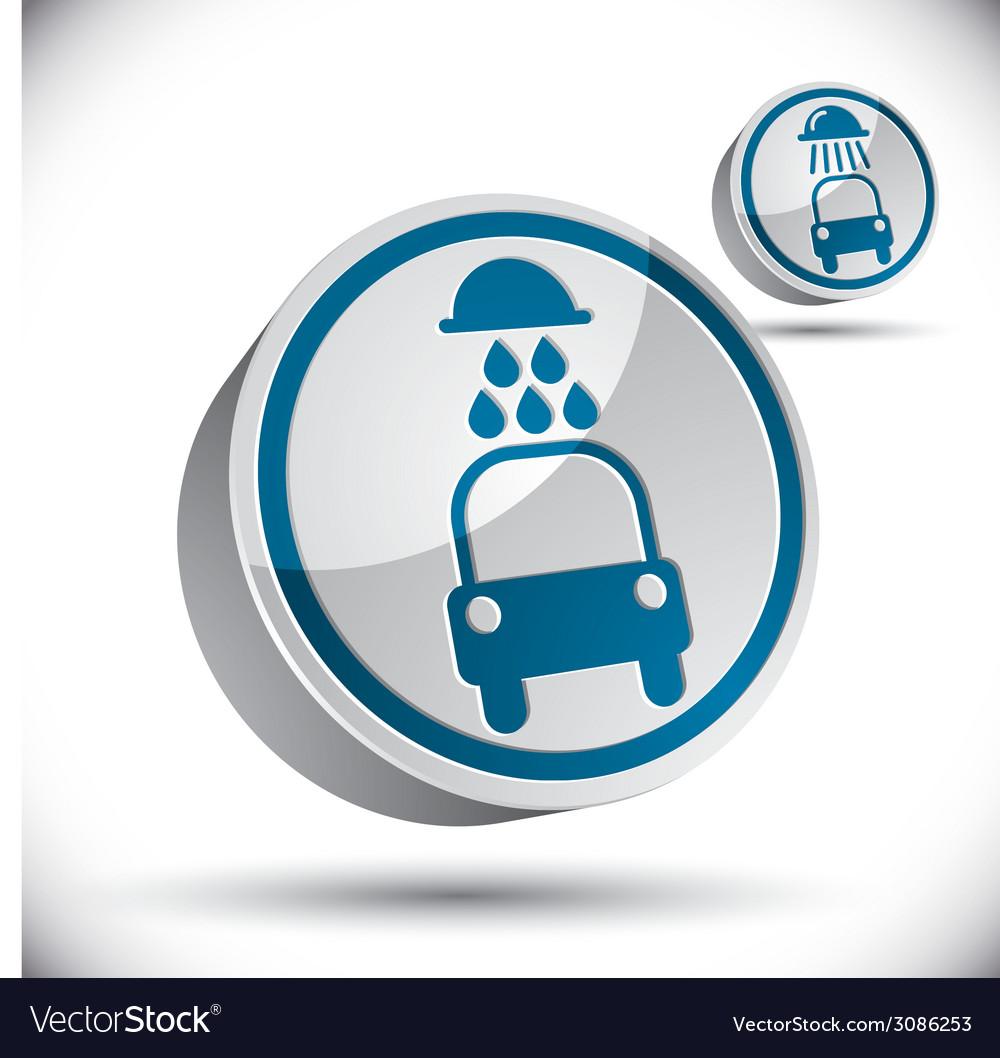 Car wash 3d icon vector | Price: 1 Credit (USD $1)
