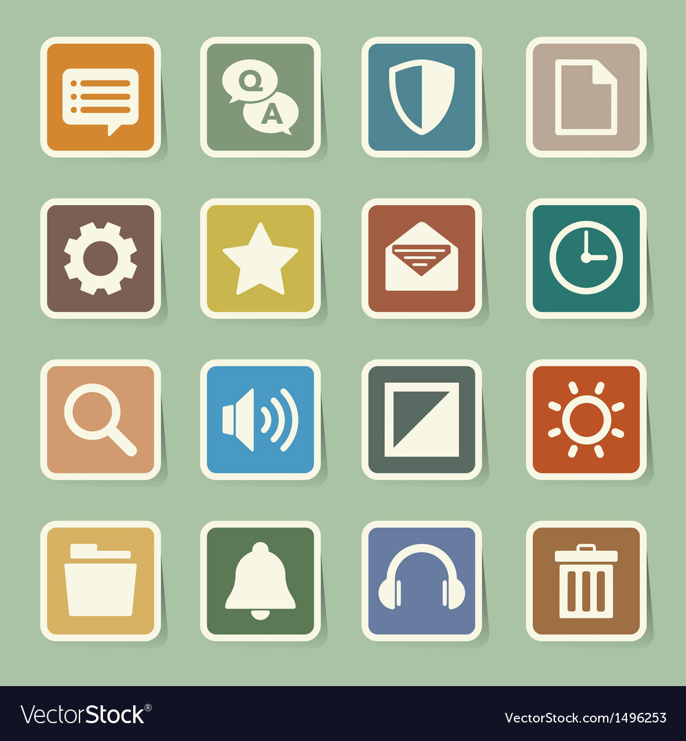 Computer menu icons set eps 10 vector | Price: 1 Credit (USD $1)