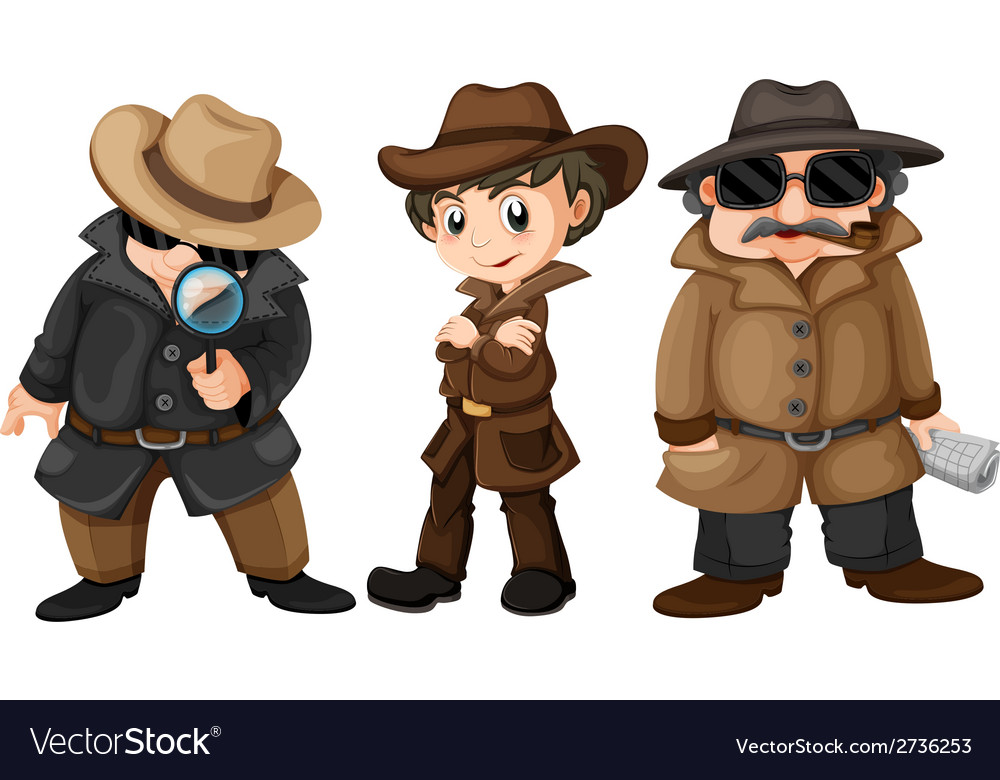 Detectives vector | Price: 1 Credit (USD $1)
