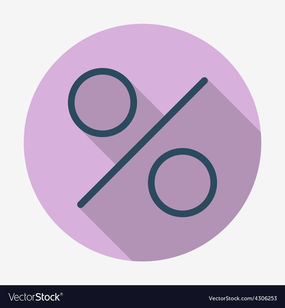 Flat style icon percent symbol vector   Price: 1 Credit (USD $1)
