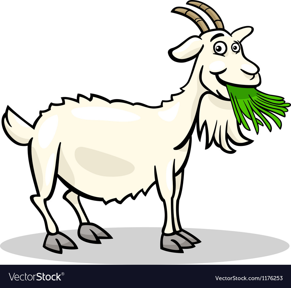 Goat farm animal cartoon vector | Price: 1 Credit (USD $1)
