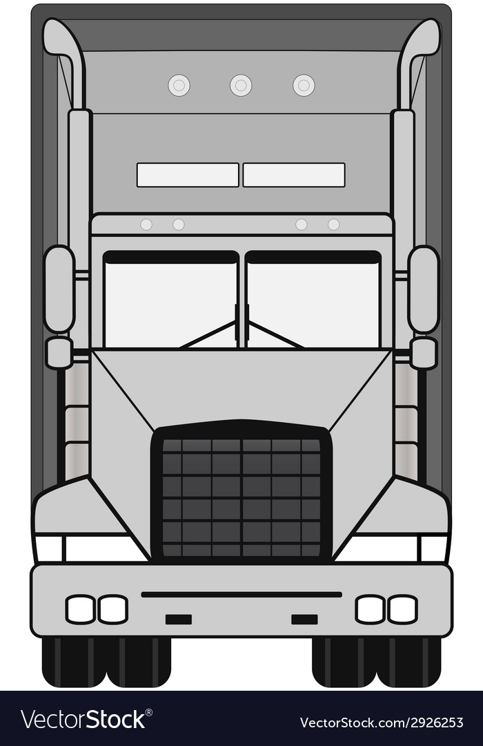 Gray isolated modern truck vector | Price: 1 Credit (USD $1)