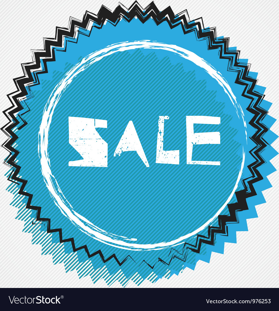Grunge cyan sale badge vector | Price: 1 Credit (USD $1)