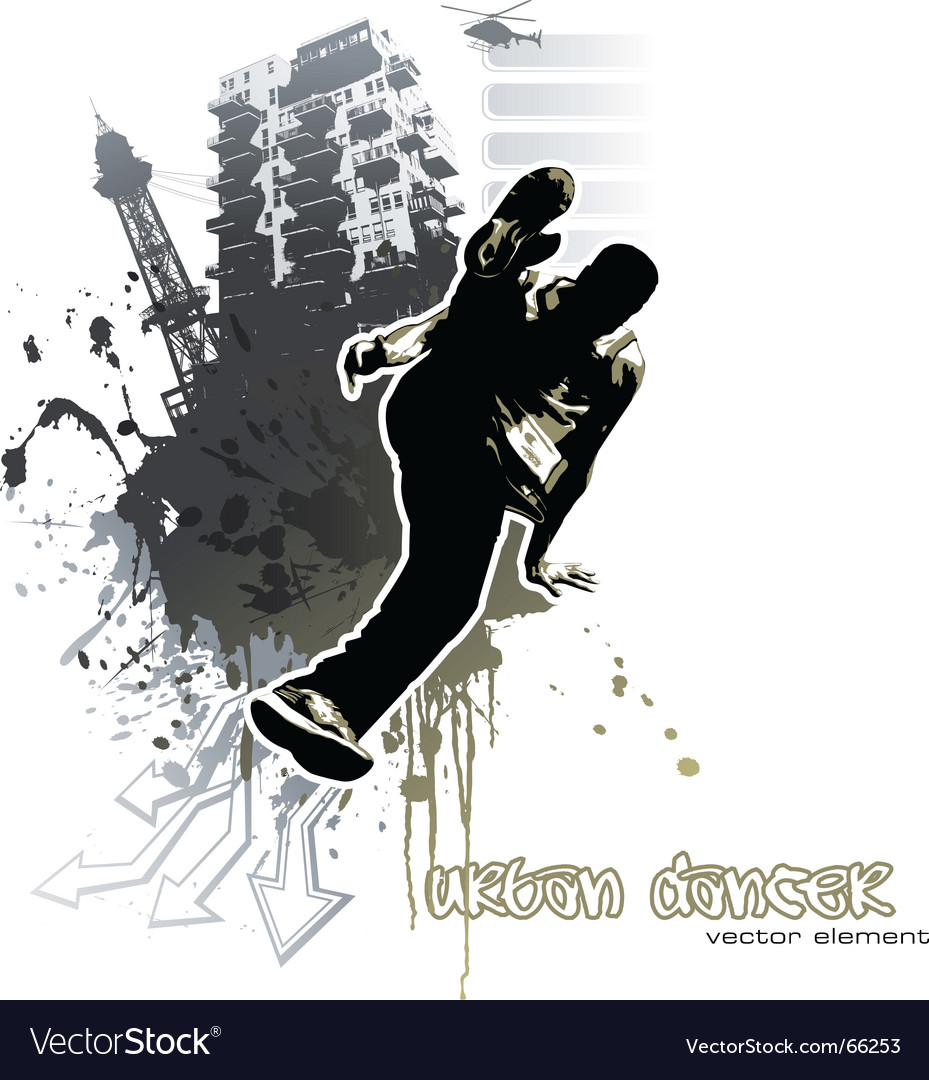Urban dancer vector | Price: 1 Credit (USD $1)