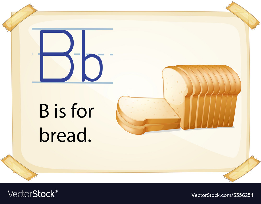 A letter b for bread vector | Price: 3 Credit (USD $3)
