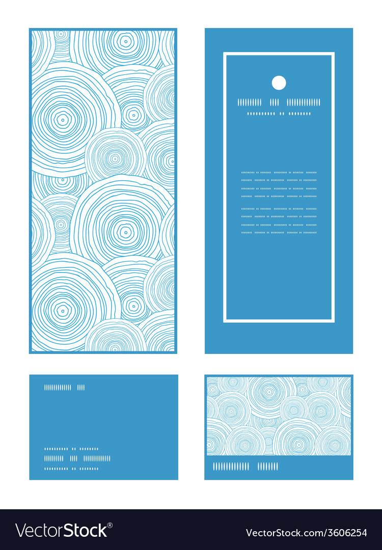 Doodle circle water texture vertical frame pattern vector | Price: 1 Credit (USD $1)