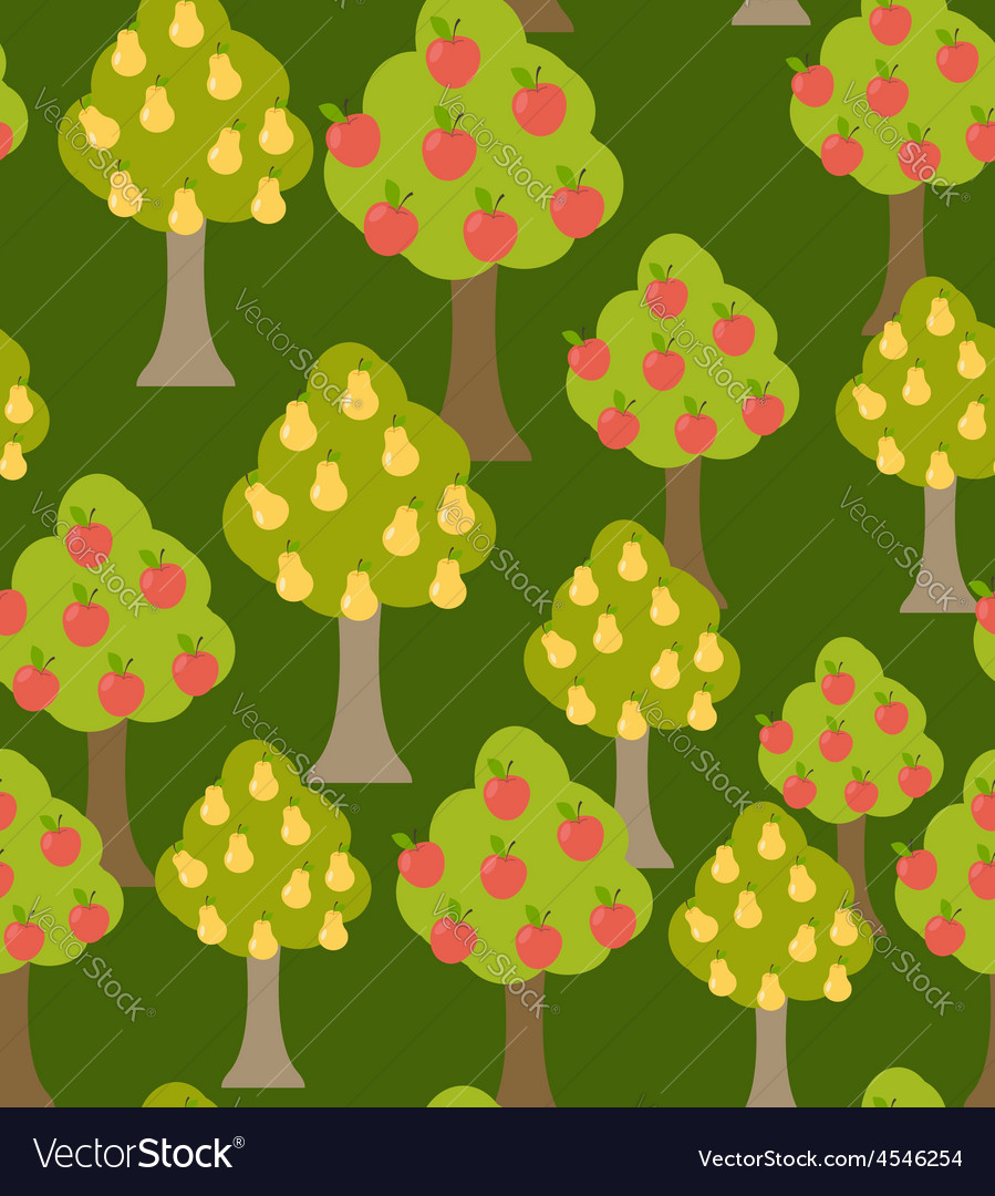 Harvest fruit trees texture with a variety of vector | Price: 1 Credit (USD $1)