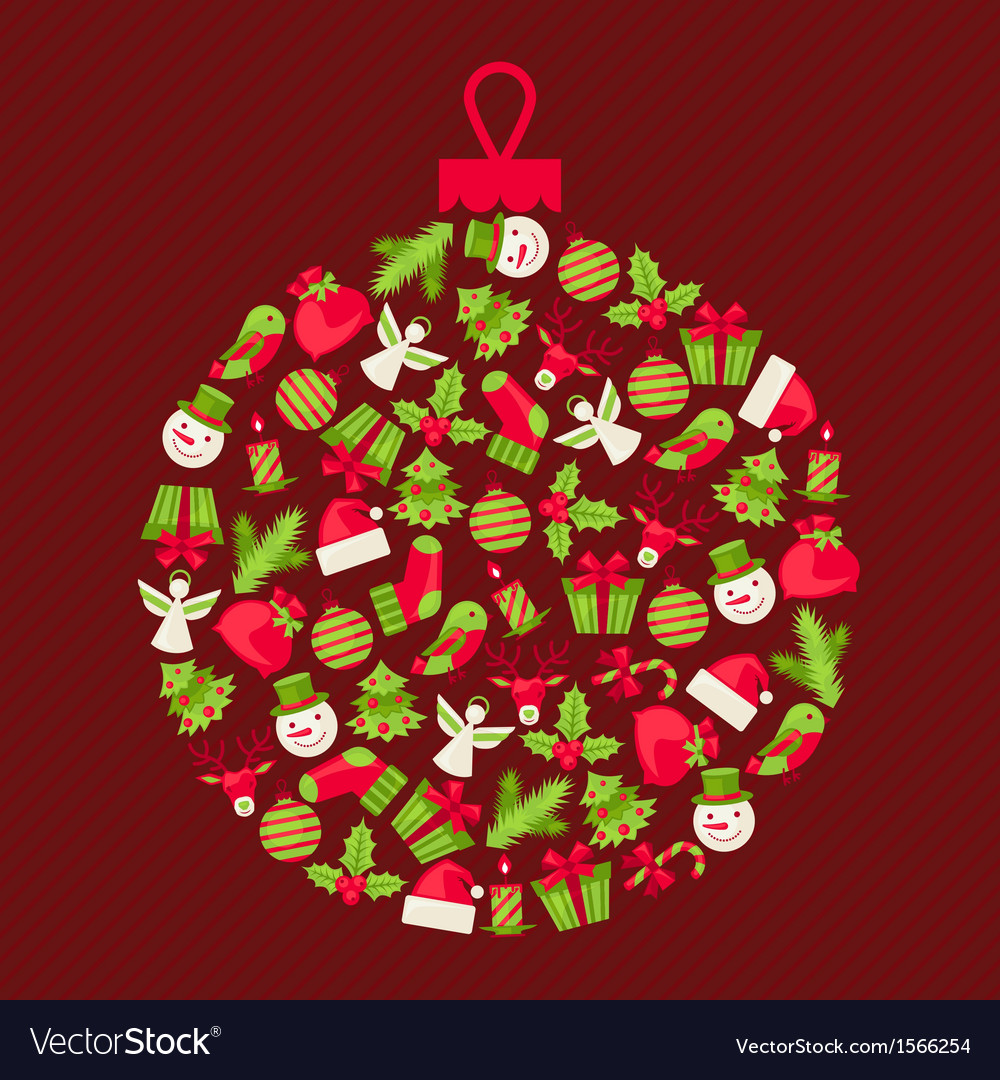 Merry christmas background for invitation card vector | Price: 1 Credit (USD $1)