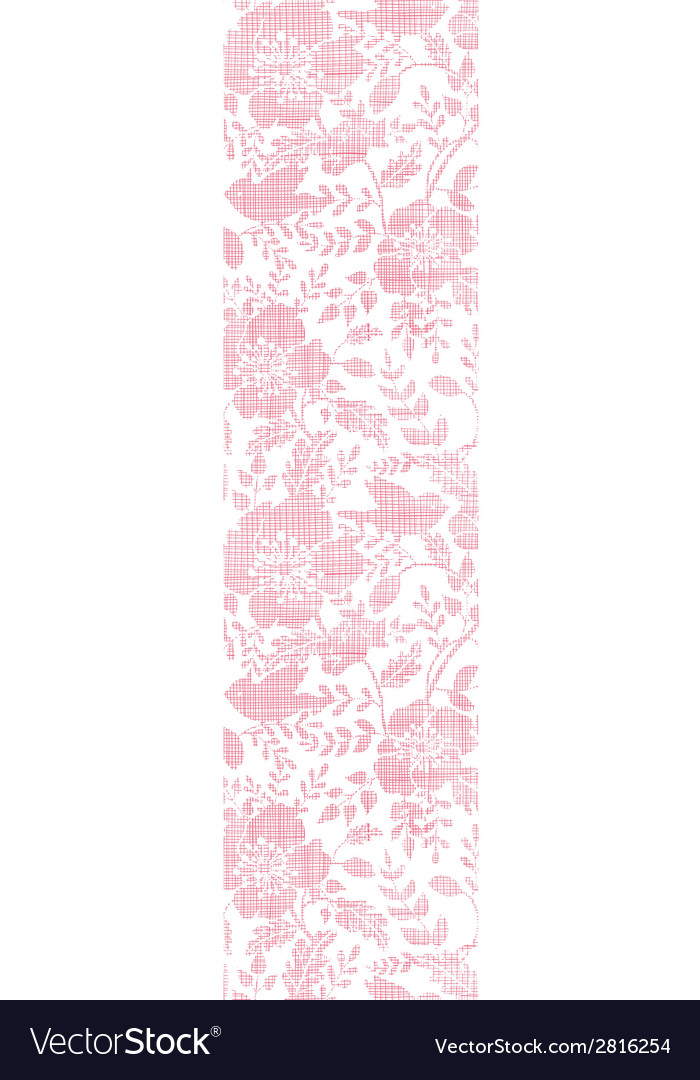 Pink textile birds and flowers vertical border vector | Price: 1 Credit (USD $1)