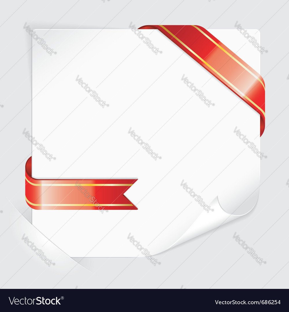 Ribbon paper vector | Price: 1 Credit (USD $1)