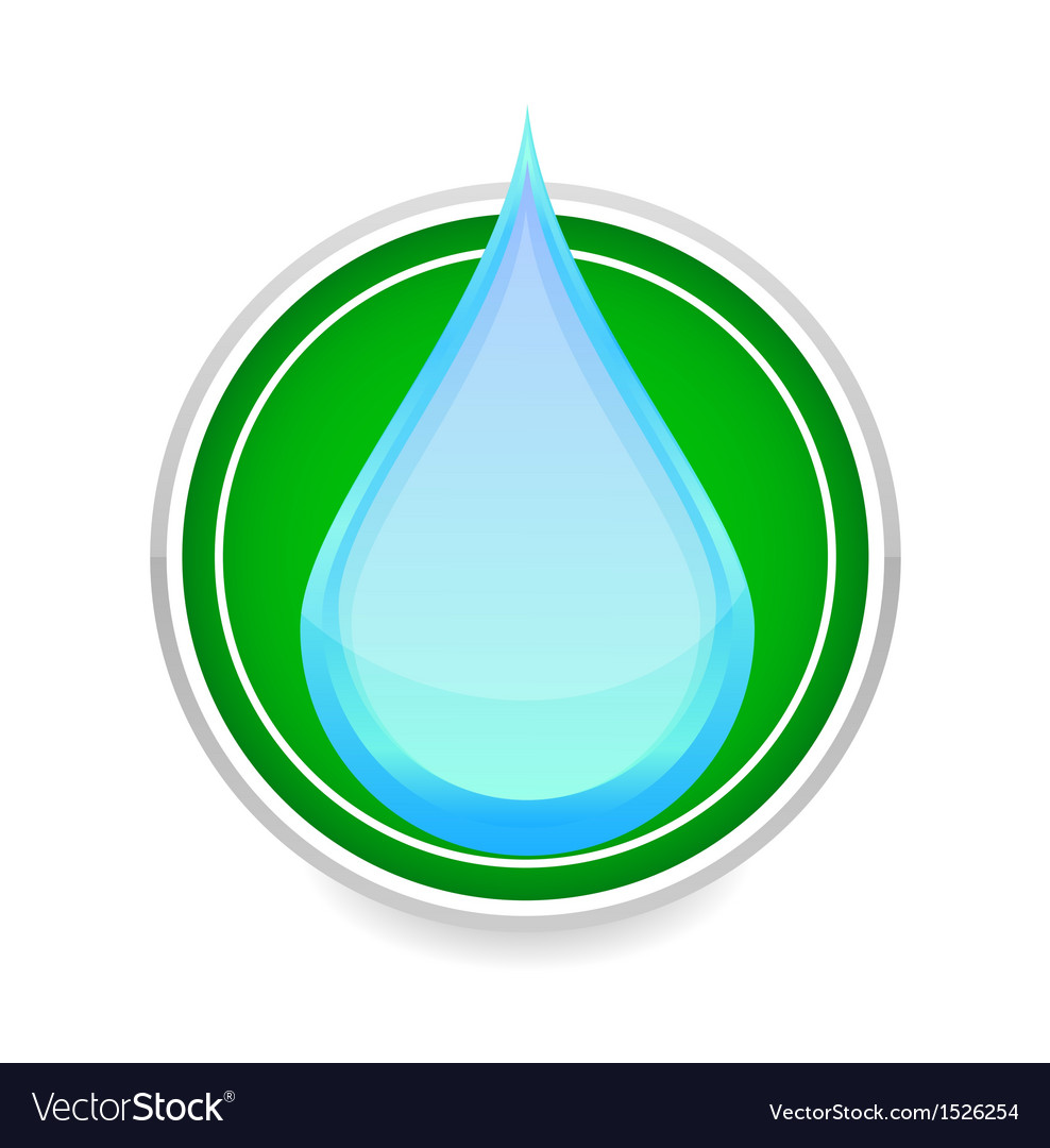Water drop blue color sign on the white vector | Price: 1 Credit (USD $1)