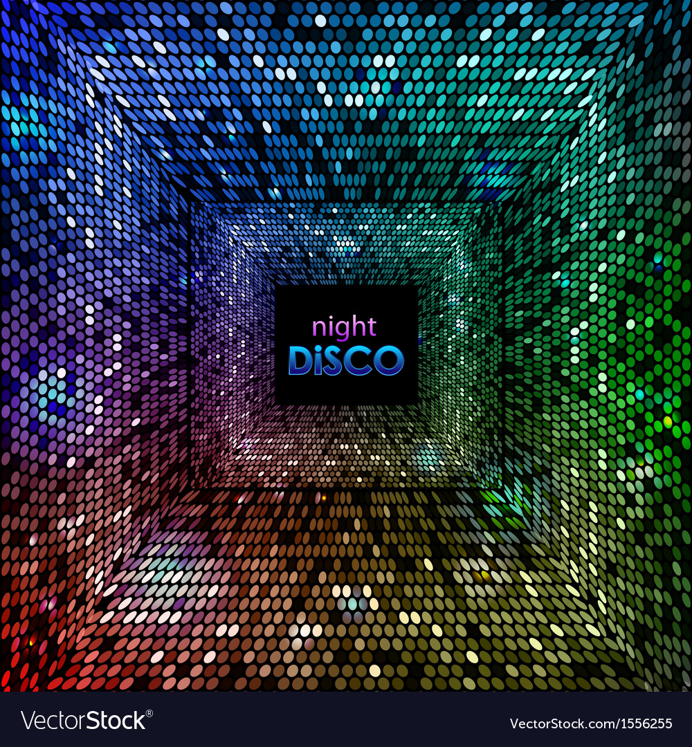 Abstract disco neon background vector | Price: 1 Credit (USD $1)