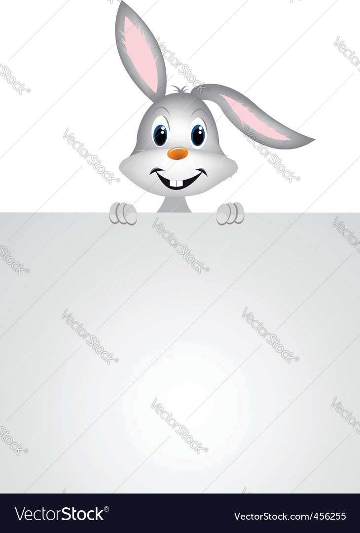 Cute easter bunny vector | Price: 1 Credit (USD $1)