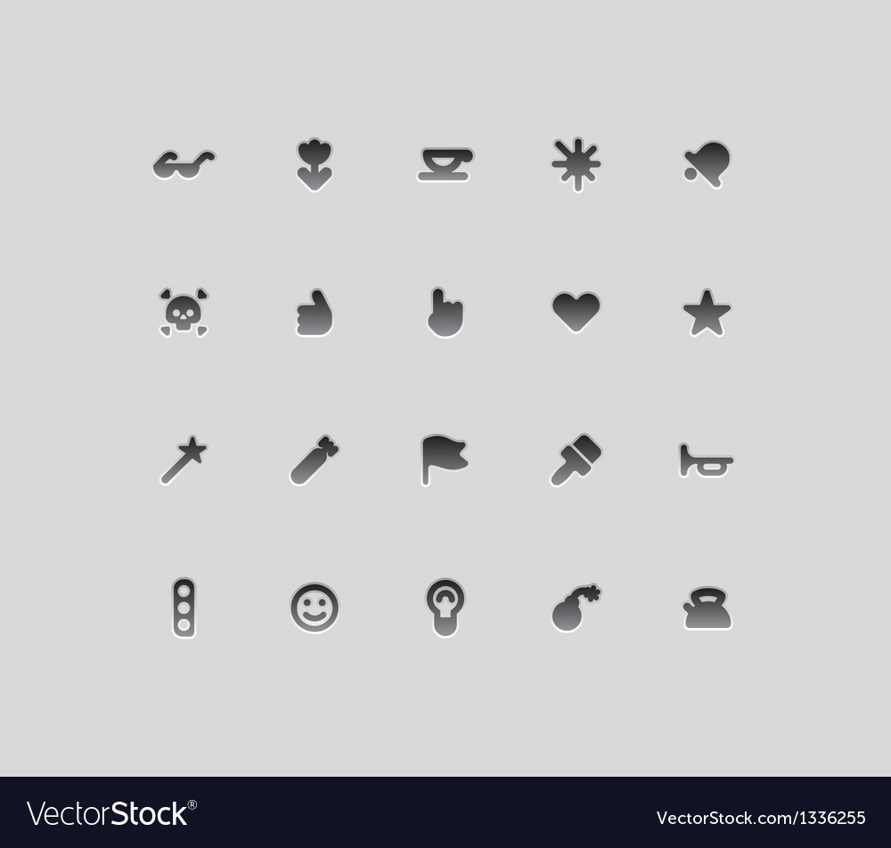 Miscellaneous interface icons vector | Price: 1 Credit (USD $1)
