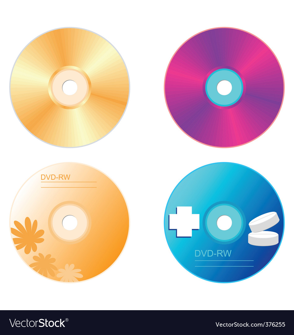Realistic illustration set dvd disk vector | Price: 1 Credit (USD $1)