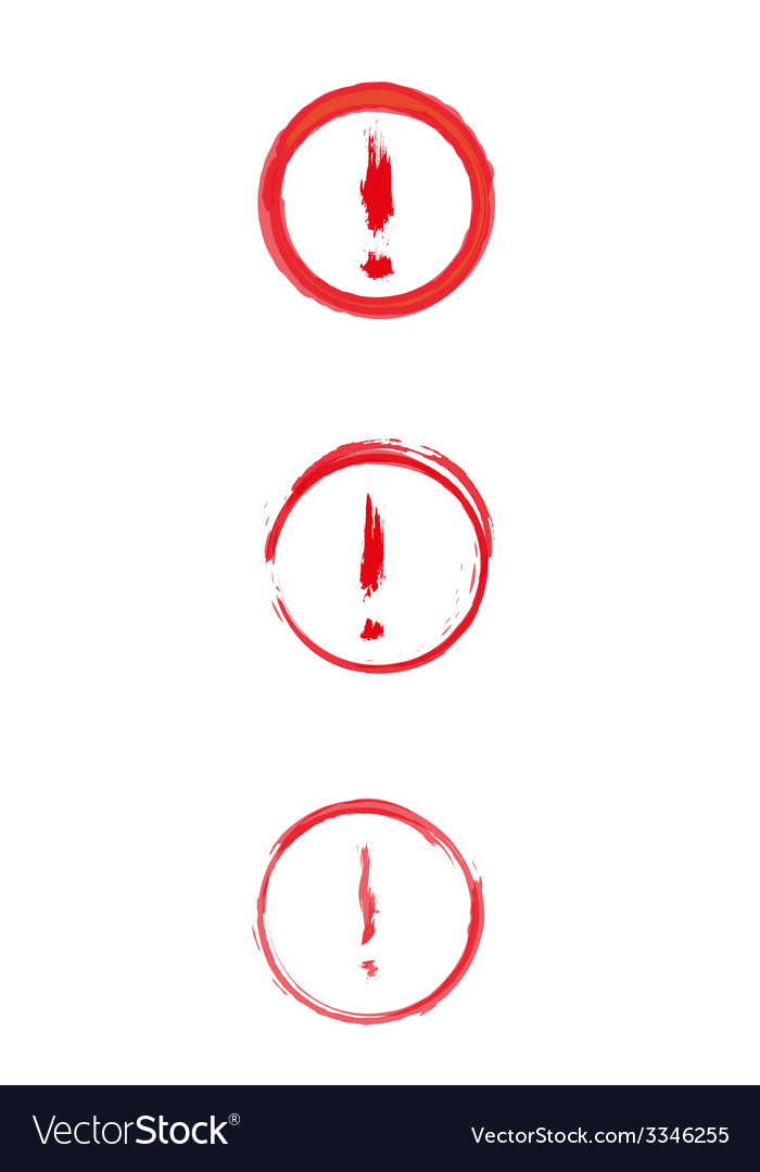 Red danger sign with exclamation mark vector   Price: 1 Credit (USD $1)