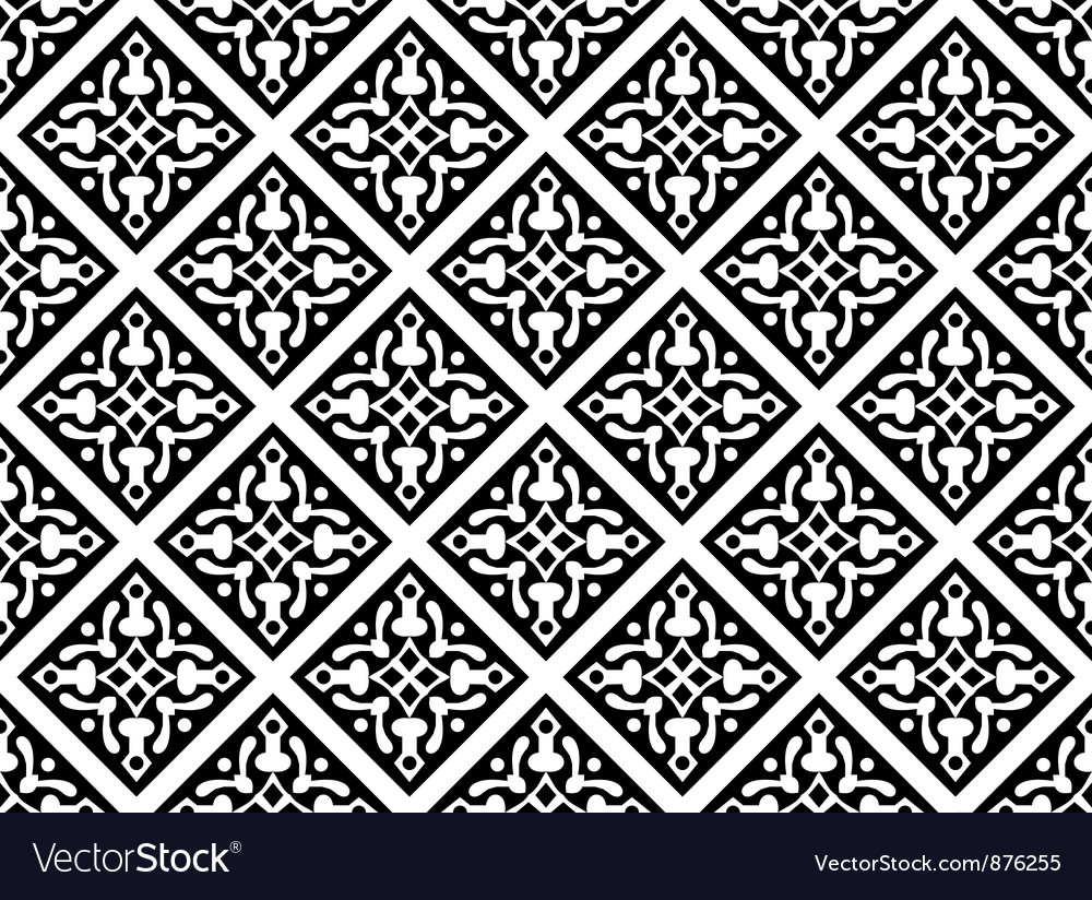 Seamless geometrical gothic floral pattern vector | Price: 1 Credit (USD $1)