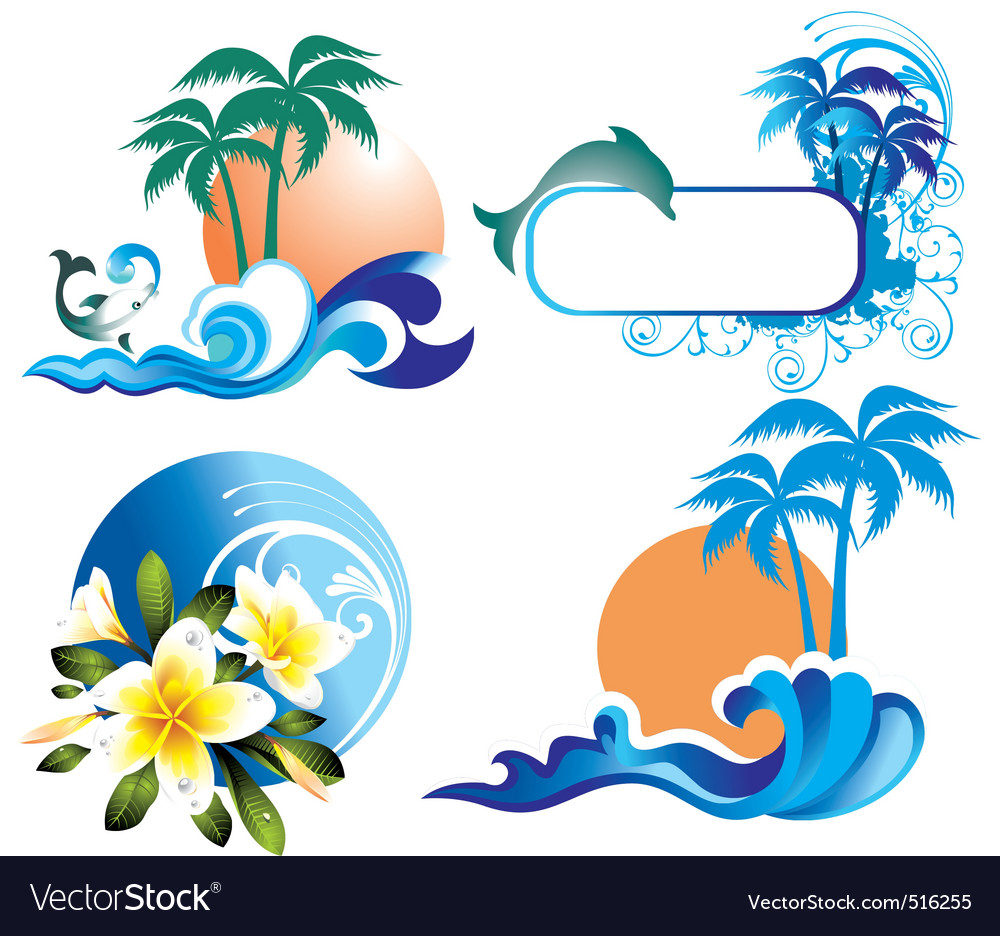 Summer ddesign elements vector | Price: 1 Credit (USD $1)