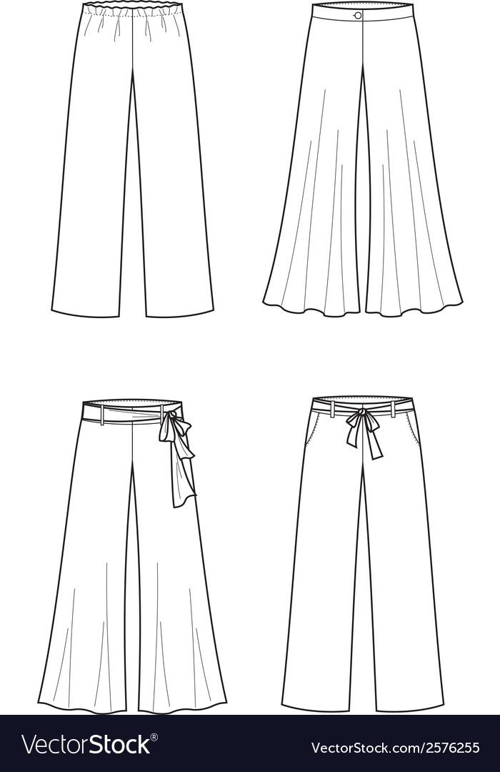 Summer pants vector | Price: 1 Credit (USD $1)