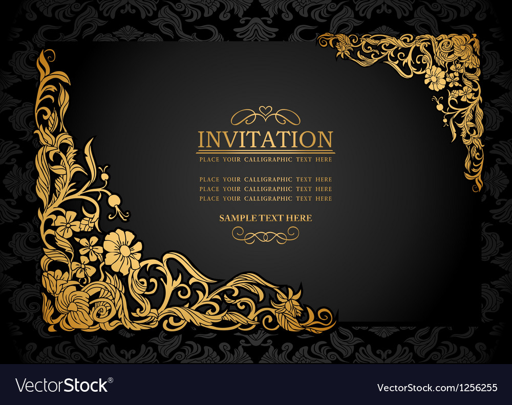 Vintage background antique victorian ornament vector | Price: 1 Credit (USD $1)