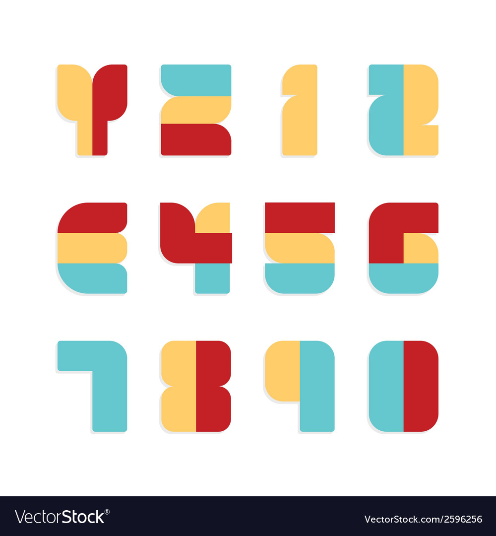 Alphabet set paper colour style vector | Price: 1 Credit (USD $1)