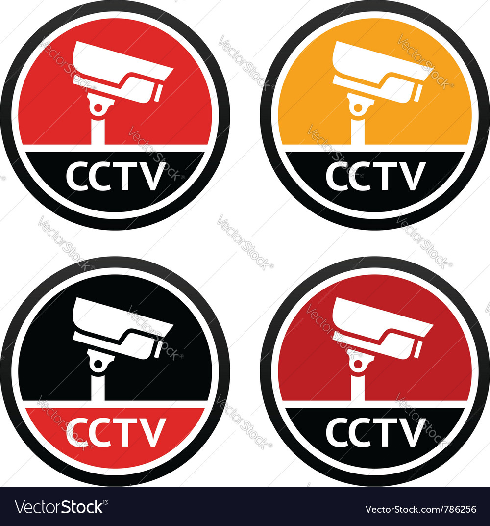 Cctv pictogram set sign security camera vector | Price: 1 Credit (USD $1)