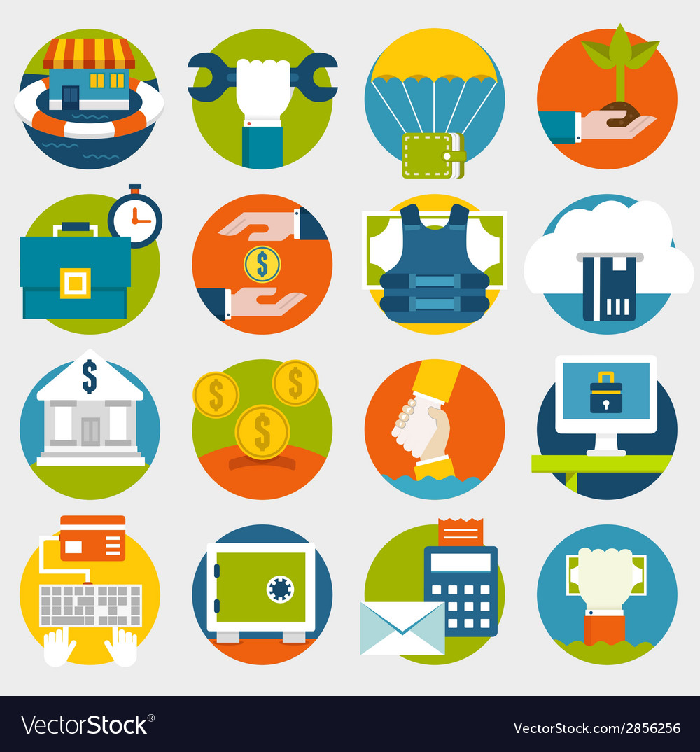Commerce and savings icons for design vector | Price: 1 Credit (USD $1)