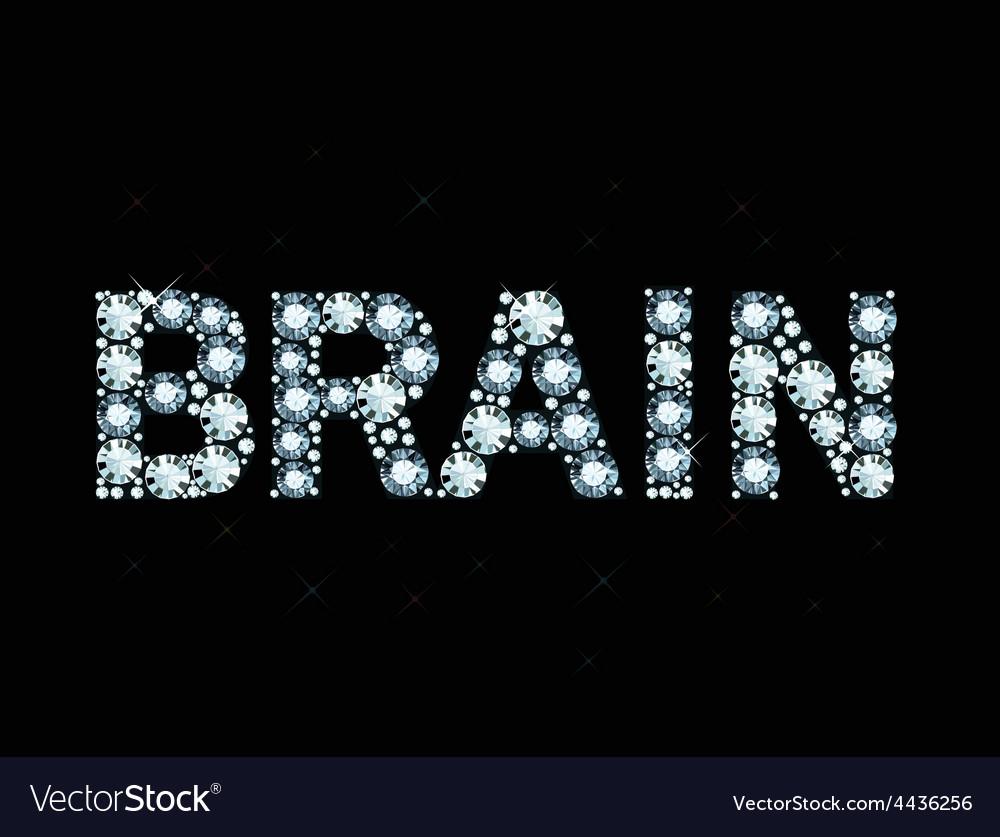 Diamond word brain vector | Price: 1 Credit (USD $1)