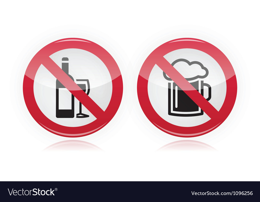 Drinking problem - no alcohol sign vector | Price: 1 Credit (USD $1)